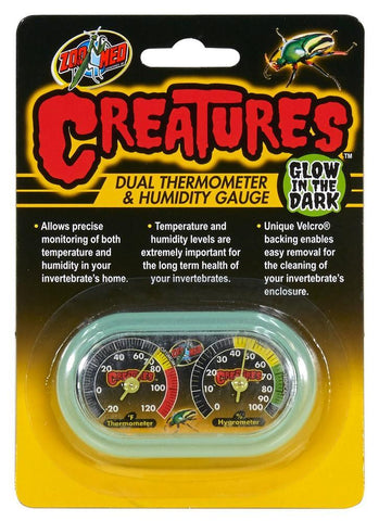 Zoo Med Creatures™ Dual Thermometer & Humidity Gauge - DubiaRoaches.com
