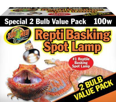 Zoo Med Repti Basking Spot Lamp, 100w (2 pack)