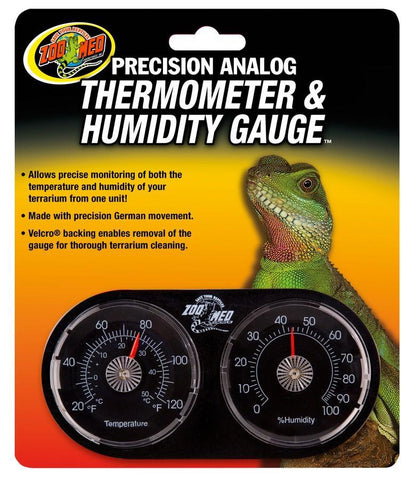 Zoo Med Precision Analog Thermometer & Humidity Gauge - DubiaRoaches.com