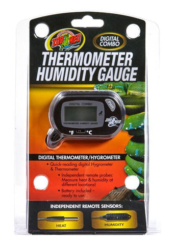 Zoo Med Digital Combo Thermometer Humidity Gauge - DubiaRoaches.com