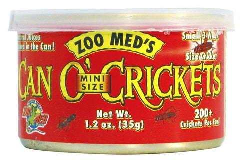 Zoo Med Can O' Mini Size Crickets - DubiaRoaches.com
