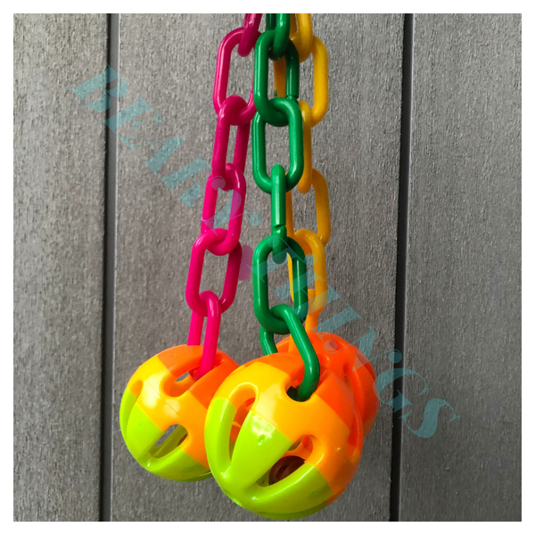 Birdie Medium 3 Balls with Plastic Chains