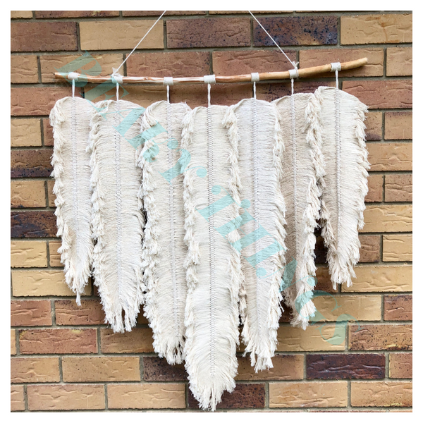 Large Macrame Feather Design