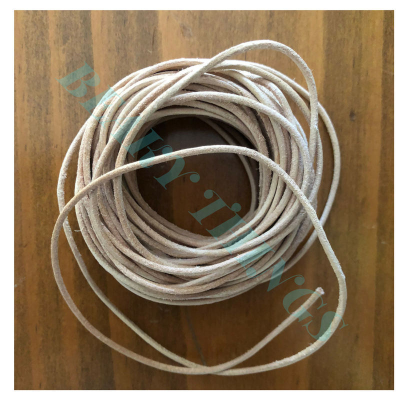 Leather Cord 0.15cm diameter per meter