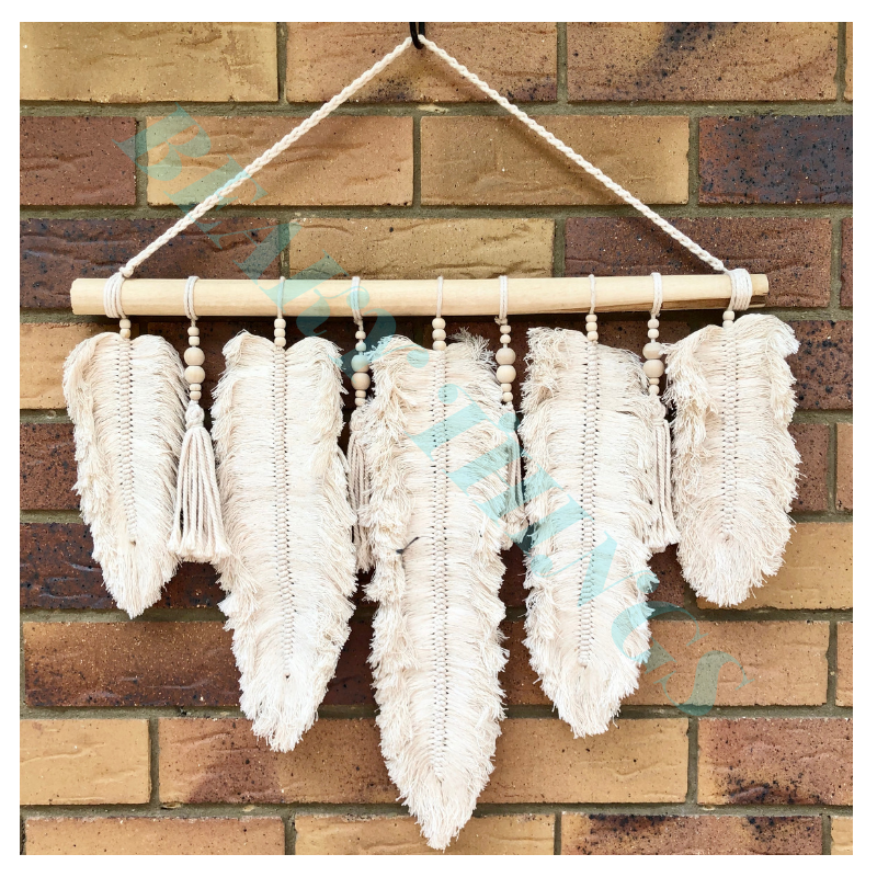Small Macrame Feather Design
