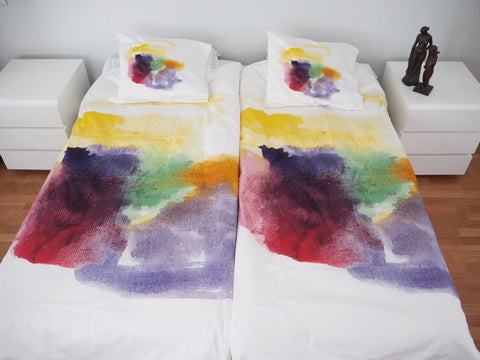 """Colorful machine"" duvet cover set"
