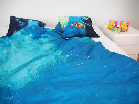 "DUVET COVER ""UNDERWATER"""