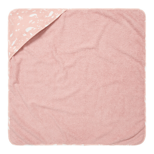 Hooded towel - Ocean Pink - Little Dutch