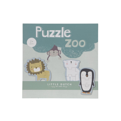 Animal puzzle - Zoo 6pcs - Little Dutch