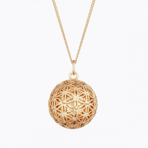 Necklace - Flower of life pregnancy ball - Rose gold - Ilado