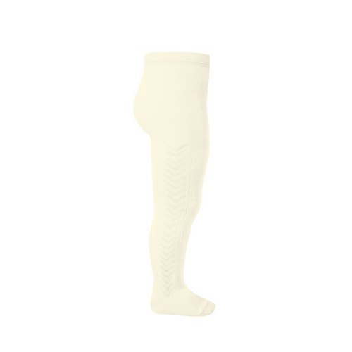 Tights - Patterned - Beige - Condor