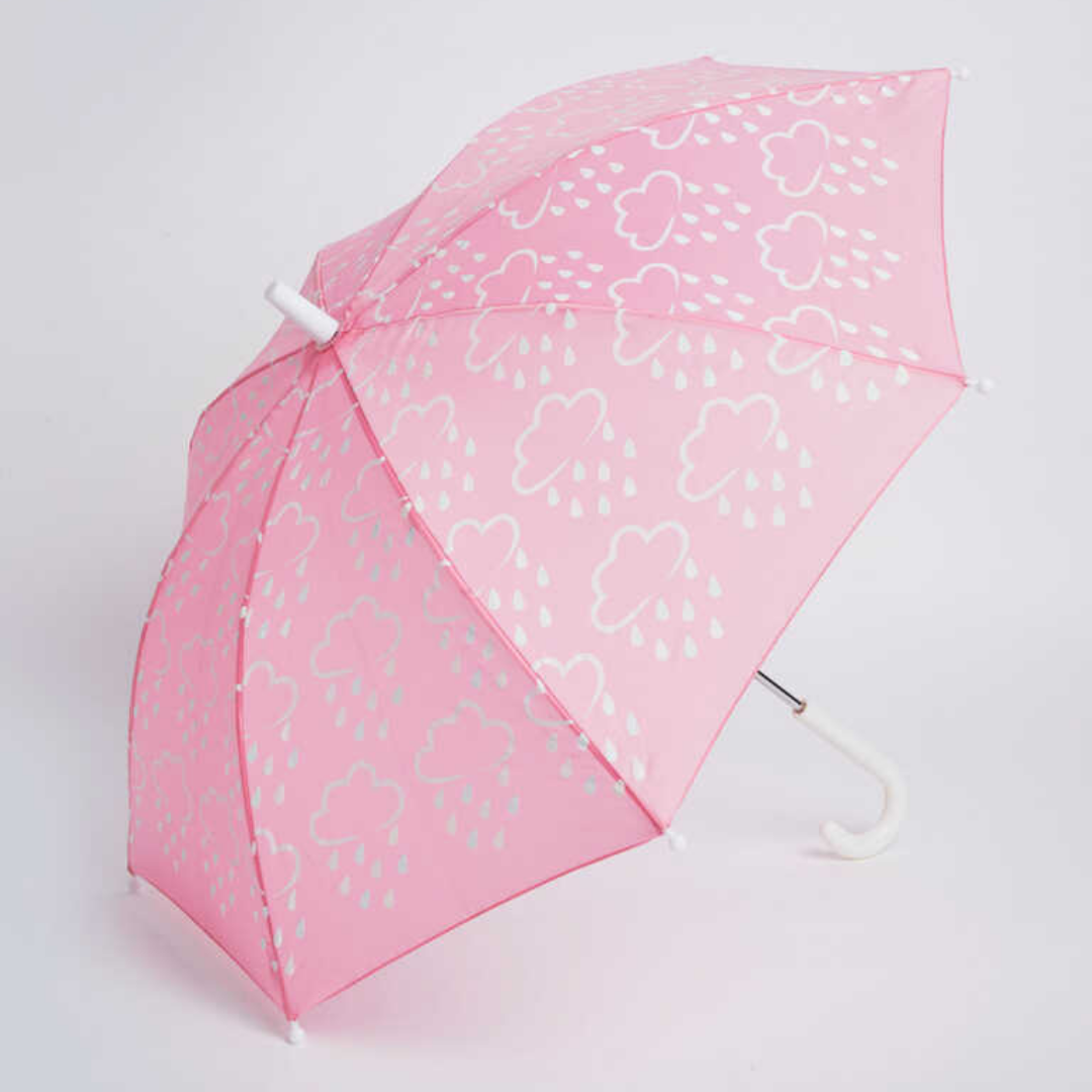 Little kids colour-revealing umbrella  - Babypink - G&A