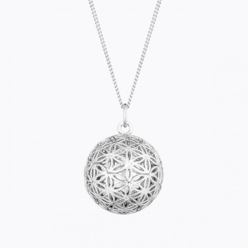 Necklace - Flower of life pregnancy ball - Silver - Ilado