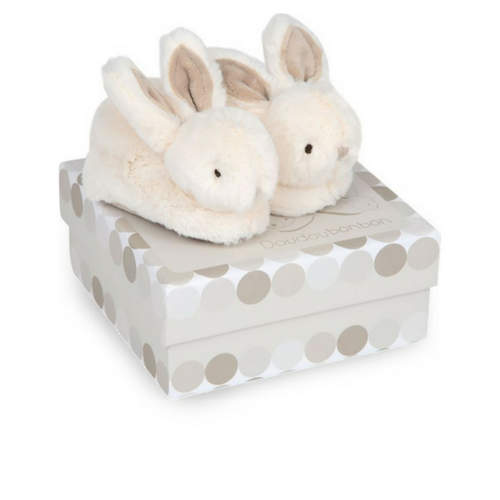 Doudou Booties with rattle- Lapin Bonbon DC1308