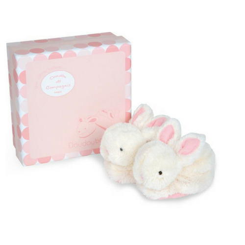 Booties with rattle - Lapin Bonbon - DC1308