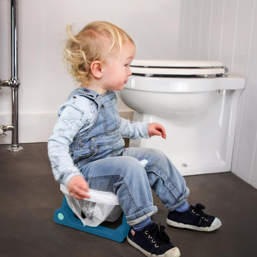Folding Travel Potty - Space Blue - Pottiagogo