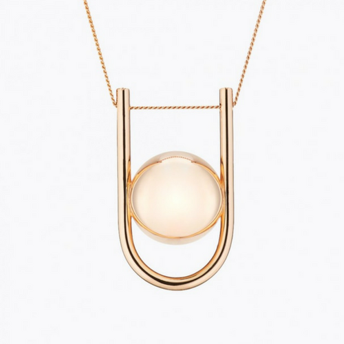 U PREGNANCY NECKLACE - Yellow Gold/ Rose Gold