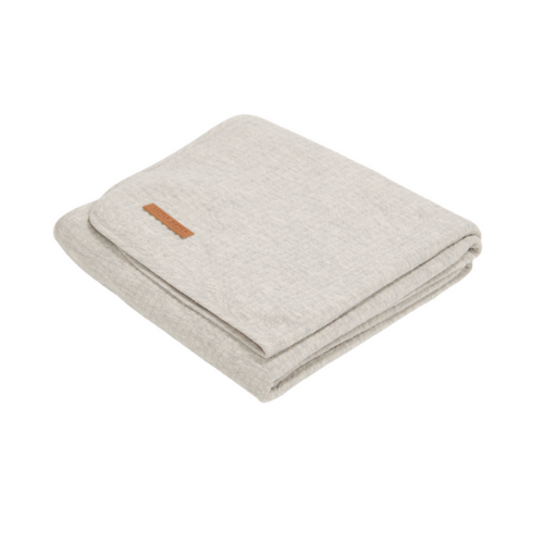 Bassinet summer blanket - Pure Grey - Little dutch