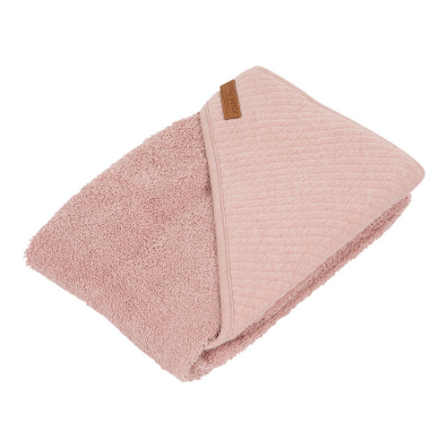 Hooded towel - Pure Pink - Little Dutch