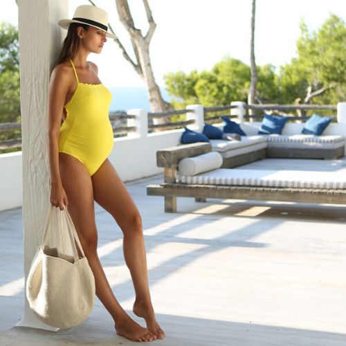 Maternity swimwear - Kyoto yellow - CC