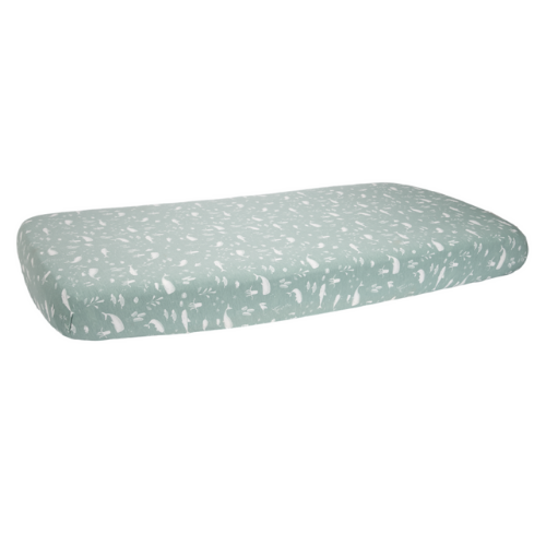 Fitted Bassinet Sheet - Ocean Mint - Little dutch