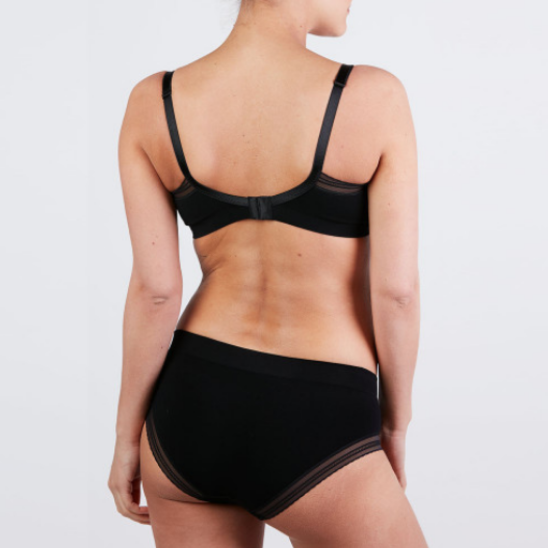 Maternity and nursing seamless bra - Milk - Black - CC
