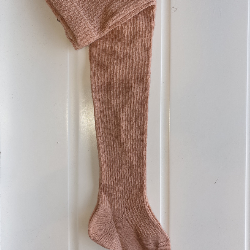 Tights - Wool patterned - Old rose - Condor