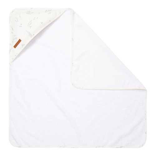 Hooded towel - Ocean - White - LD