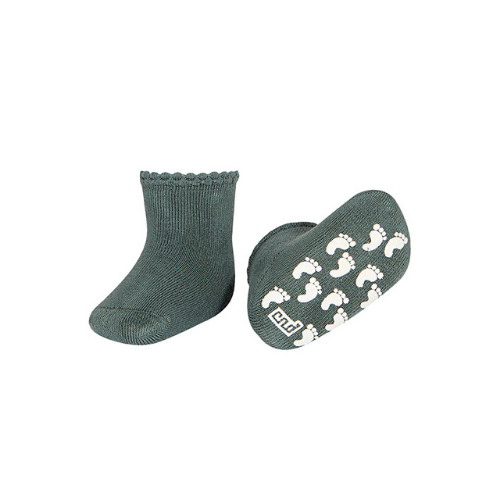 BABY NON-SLIP TERRY SOCKS WITH PATTERNED CUFF - Cóndor