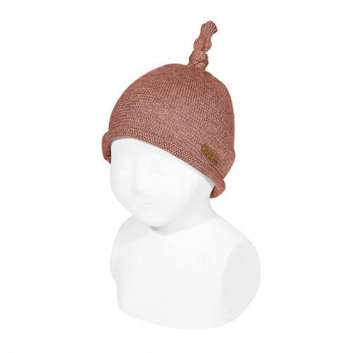 COTTON-WOOL KNIT HAT WITH NOEUD - Cóndor