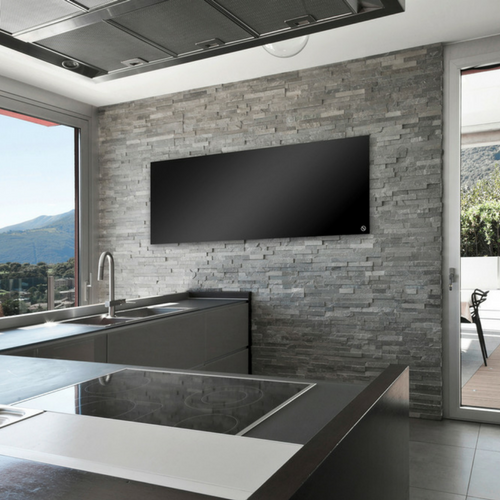 Infrared Heating Panels - Glass Black/White Panels - frameless