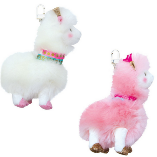 Histoire d'Ours - Lama Key Chains Pink & White
