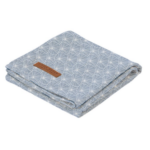 Swaddle - Lily Leaves Blue