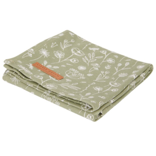 Swaddles 120 x 120 Wild Flowers Olive / Pure Olive