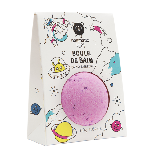 Cosmic Bath Ball Pink with Purple Dots