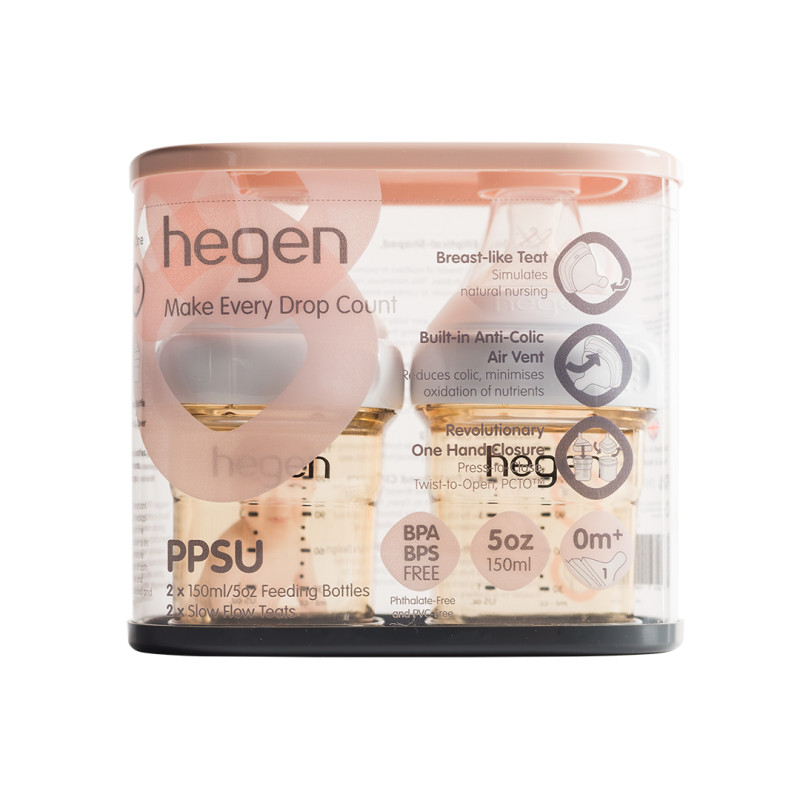 HEGEN PCTO™ 150ML/5OZ FEEDING BOTTLE PPSU, 2-PACK