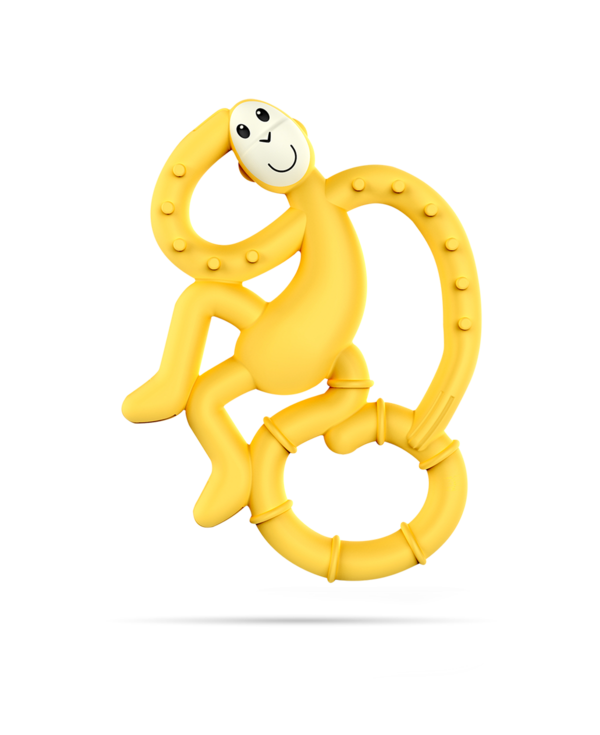 Yellow Mini Monkey Teether