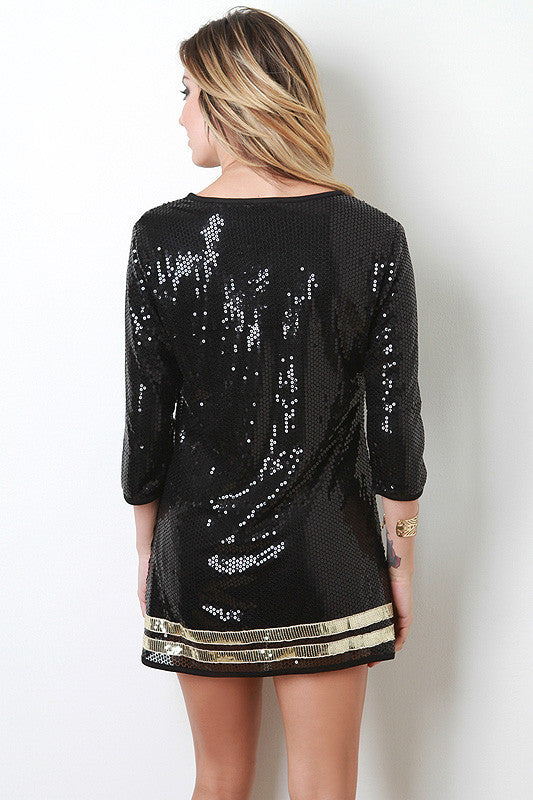 Sequin Sports Jersey Style Dress