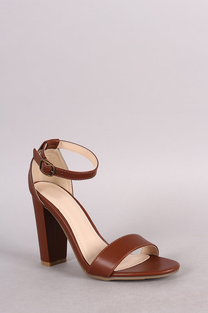 Bamboo One Band Ankle Strap Open Toe Heel