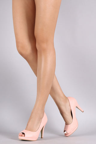 Peep Toe Low Platform Pump