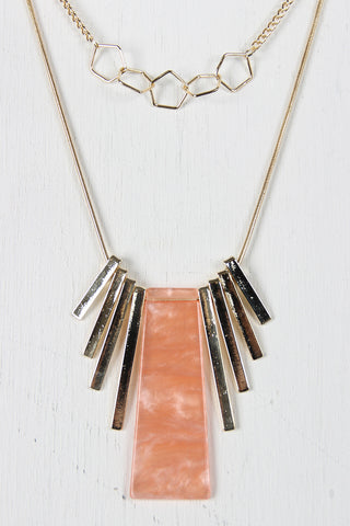 Layered Shapes Pendant Necklace
