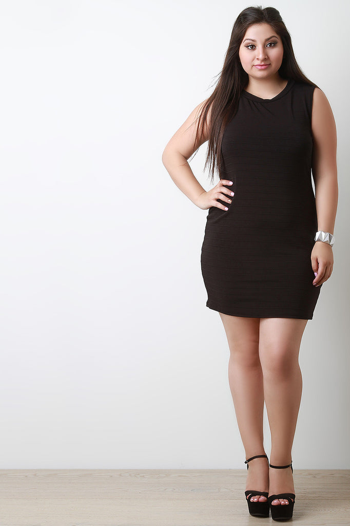 Back Cut Out Sleeveless Bodycon Dress