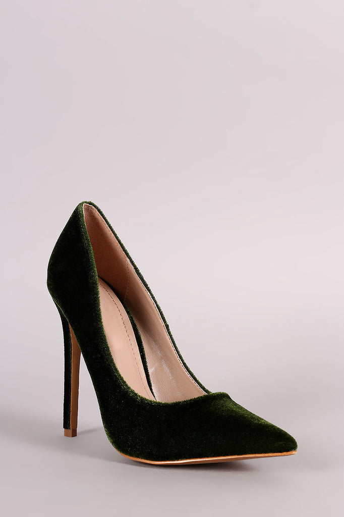 Shoe Republic LA Velvet Pointy Toe Pump