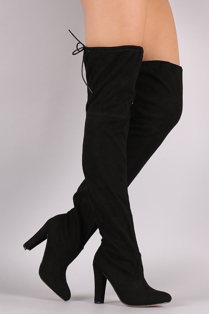 Thigh High Tie Heeled Boot