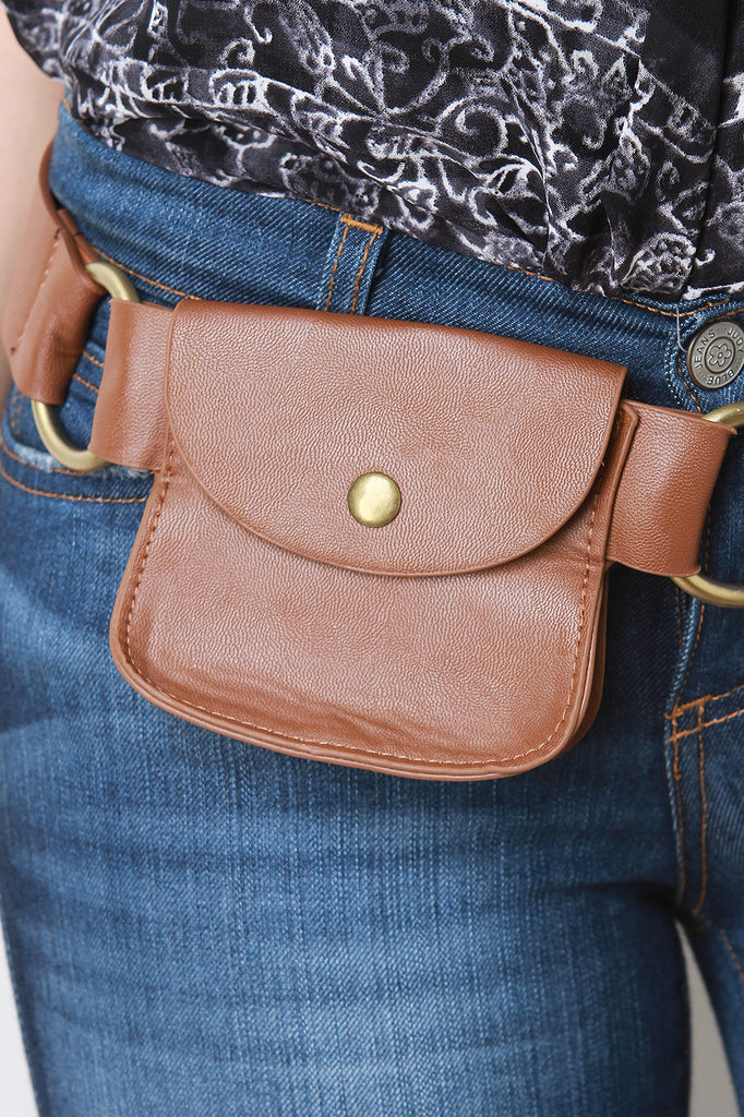 Simple Leather Pouch Belt