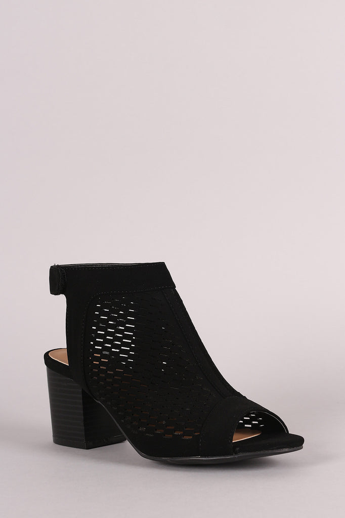 Bamboo Perforated Mule Booties