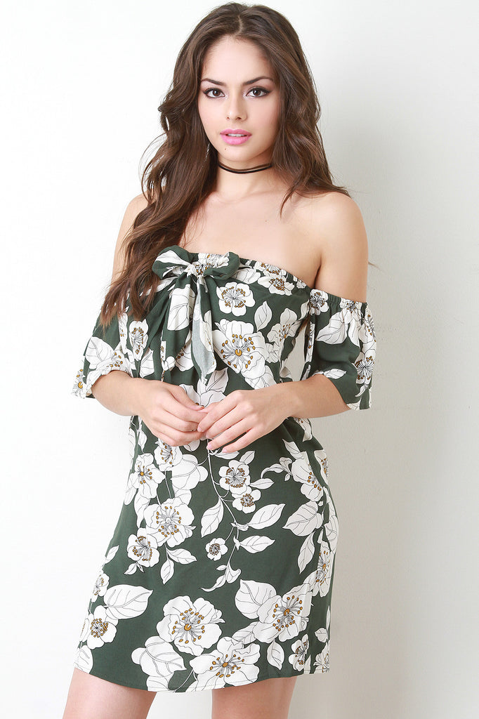 Bardot Hibiscus Shift Dress