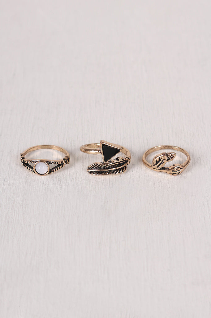 Arrow And Elements Ring Set