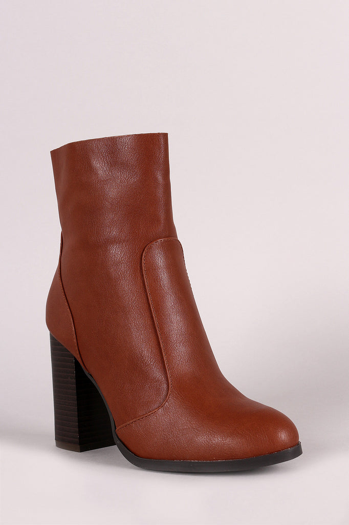 Bamboo Stitch Trim Zip-Up Booties
