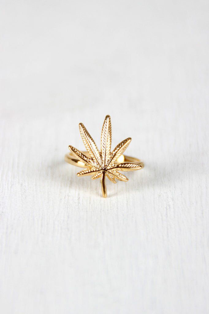 Mary Jane's Leaf Ring